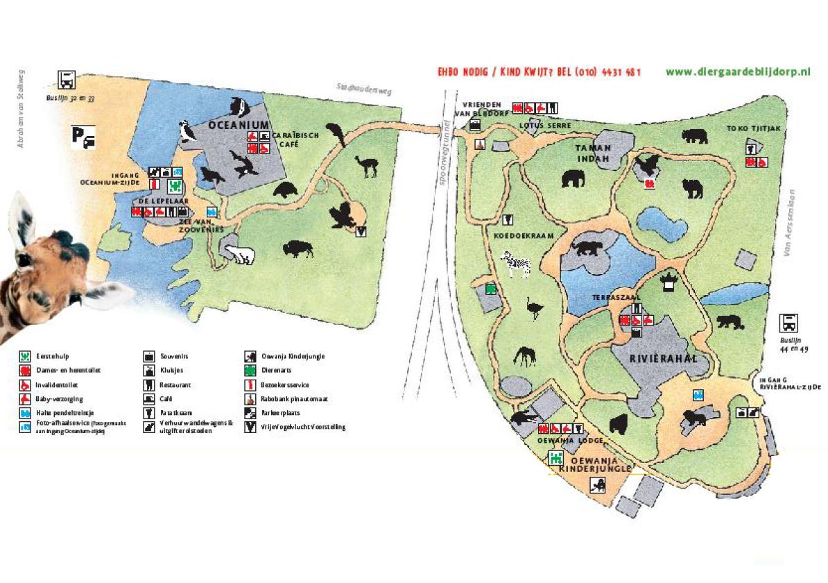 plattegrond diergaarde blijdorp